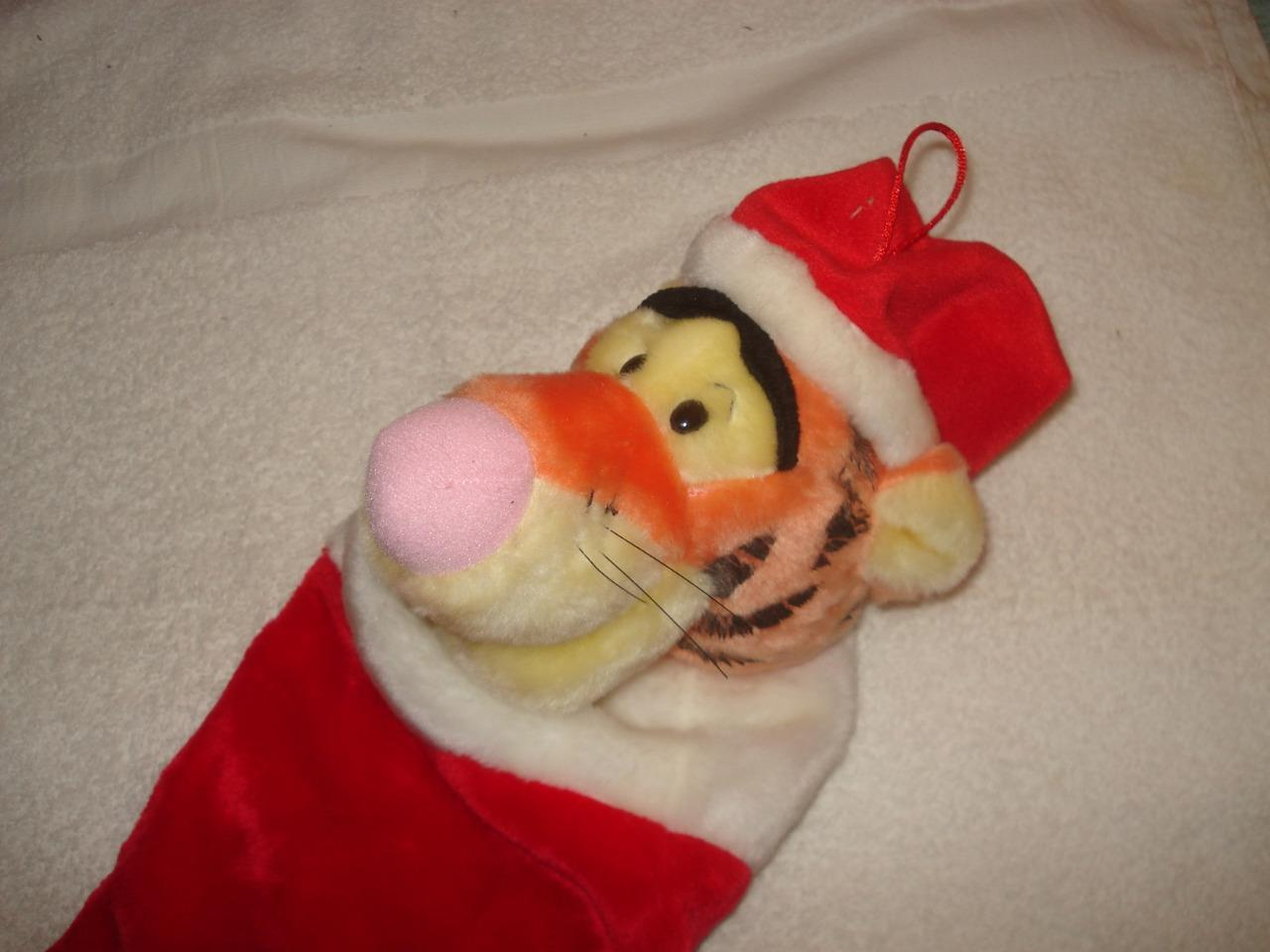 DISNEY WINNIE THE POOH TIGGER SINGING CHRISTMAS STOCKING