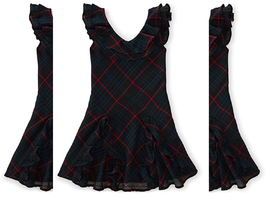 Ralph Lauren Little Girls' Gauze Ruffled Dress,Green/Black Multi, Size 3... - $28.70