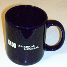AIG American General Blue Ceramic Cup Collectible - $17.61