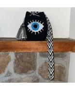 Authentic 100% Wayuu Mochila Colombian Bag Mini Size Handpainted front e... - $55.00