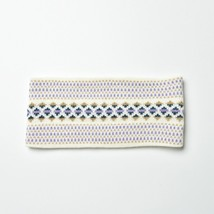 White Lilac Dotted Aztec Knitted Headbands for Fall & Winter - $13.09