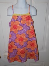 Hanna Andersson Purple & Floral Print Sun Dress Size 110 (5) Girl's EUC - $18.72