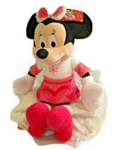 "Disney Minnie Mouse Large 22"" Plush Stuffed Toy Pink Winter snowflake 20... - $15.83"