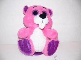 "PLUSH BIG EYE Pink, Purple, & White 9"" Beaver Stuffed Toy mm - $9.99"