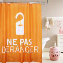 Fabric Polyester Orange Showering Waterproof Thicken Shower Curtains Nep... - $31.94
