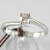 White Gold Ring 750 18k, Solitaire, Shank Cross, diamond carats 0.26 image 1