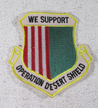 """We Support Desert Storm Shield 4"""" Embroidered Patch Red Green Gold - $7.43"""