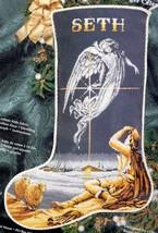 Heavenly Messenger Nativity Shepherd Angel Cross Stitch Stocking Kit 13-248 - $224.95