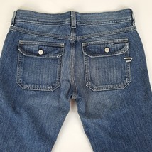 Womens Diesel Nadar Boot Cut Jeans 31 x 29 Dark Wash Cotton Snap Flap Po... - $17.99