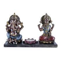The Hindu Gods - Ganesha & Krishna Lotus Candleholder - $30.00