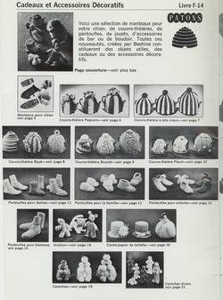 Knit Crochet French Patterns, Patons F-14, Dog Coat Tea Cosy Socks Slippers Toys