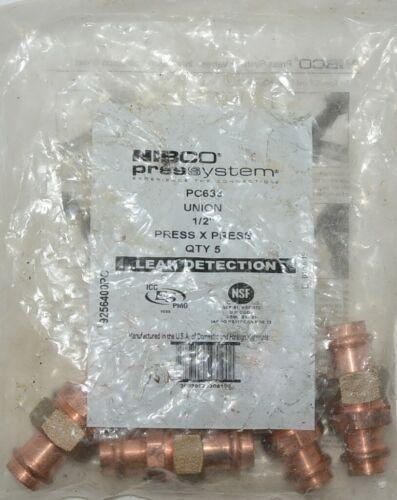 Nibco Press System PC633 Union half Inch 9256400PC Quantity 5 Per Bag