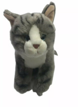 Rare Toys R Us Tabby Gray with Black Stripes Cat Kitty Kitten Stuffed 11... - £25.06 GBP