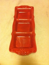 HOME  --3 SECTION PLATTER / SERVER / TRAY--RED----FREE SHIP--VGC - $25.18