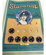 Vintage Star Snap Card With Snaps Made In Chicago Columbia Fastener Comp... - $3.80