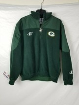 Vintage Logo Athletic Mens M Green Bay Packers Pro Line Green Fleece Pul... - $29.69