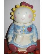 """Treasure Craft Sugar Girl Rag Doll Cookie Jar 12"""" - $34.95"""