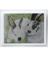 Bunny Rabbit Animal Art Note Cards Solomon - $12.50