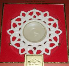 Lenox Snow Lights Shine Snowflake Votive Candle Holder Porcelain New - $13.90
