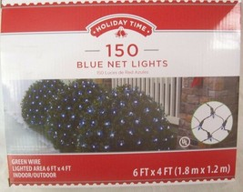 NEW Strand 150 Count Net Lights BLUE COLOR BULBS with Green Wire 6' x 4' - $16.34