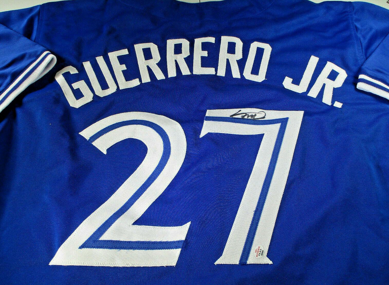 VLADIMIR GUERRERO, JR. / AUTOGRAPHED TORONTO BLUE JAYS CUSTOM JERSEY / COA