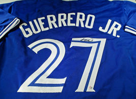 VLADIMIR GUERRERO, JR. / AUTOGRAPHED TORONTO BLUE JAYS CUSTOM JERSEY / COA image 1
