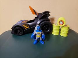 Fisher Price Imaginext DC Super Friends Batman Batmobile (WORKS) w/ Joke... - $25.99