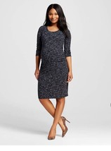 Liz Lange Maternity Ebony Black Spacedye Dress Extra Small XS NWT 3/4 Sl... - $19.34