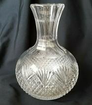 Antique Crystal Carafe American Brilliant ABP Mega Cut Diamond Pineapple Cuts - $46.50
