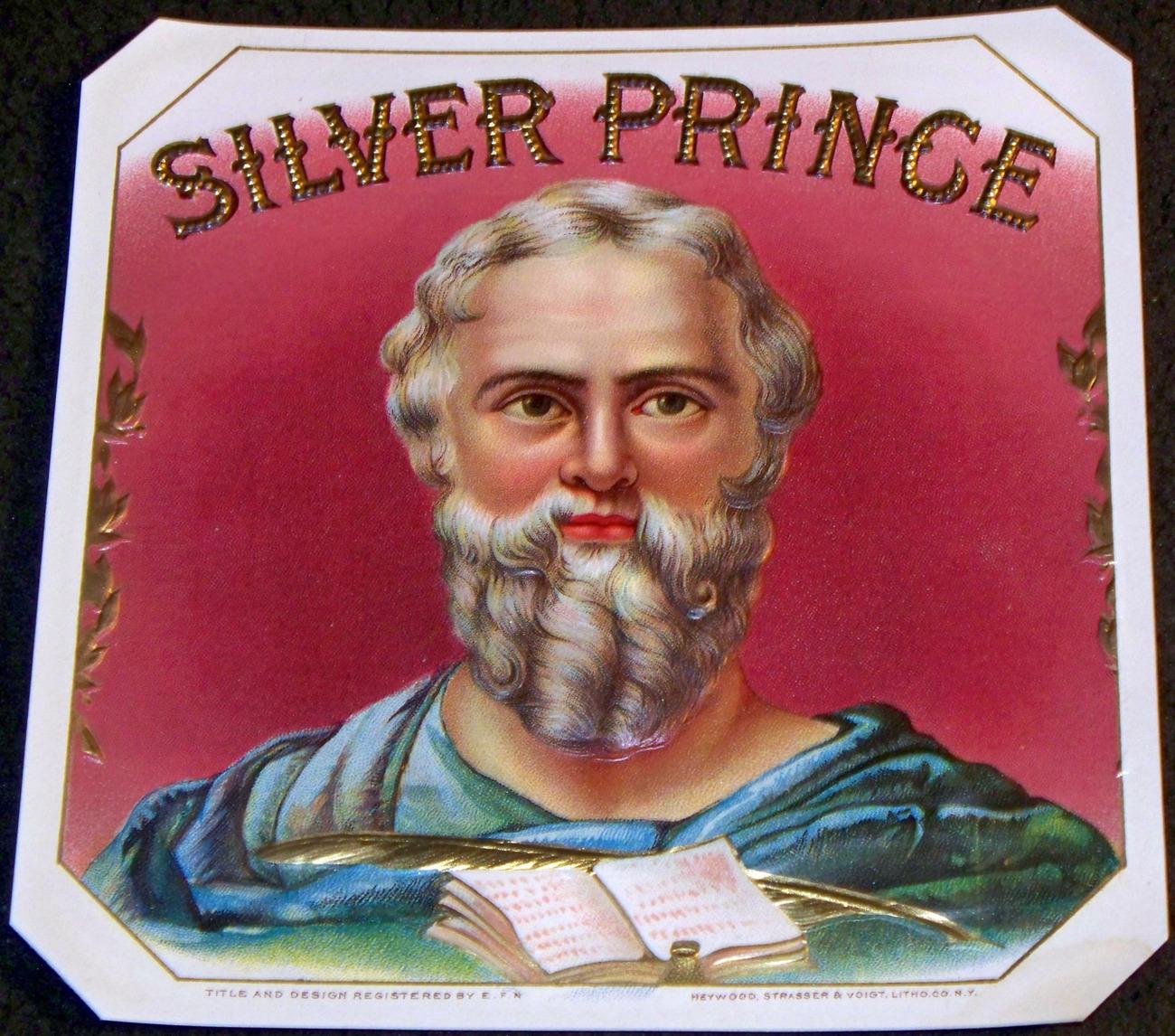 Silver prince cigar label 001