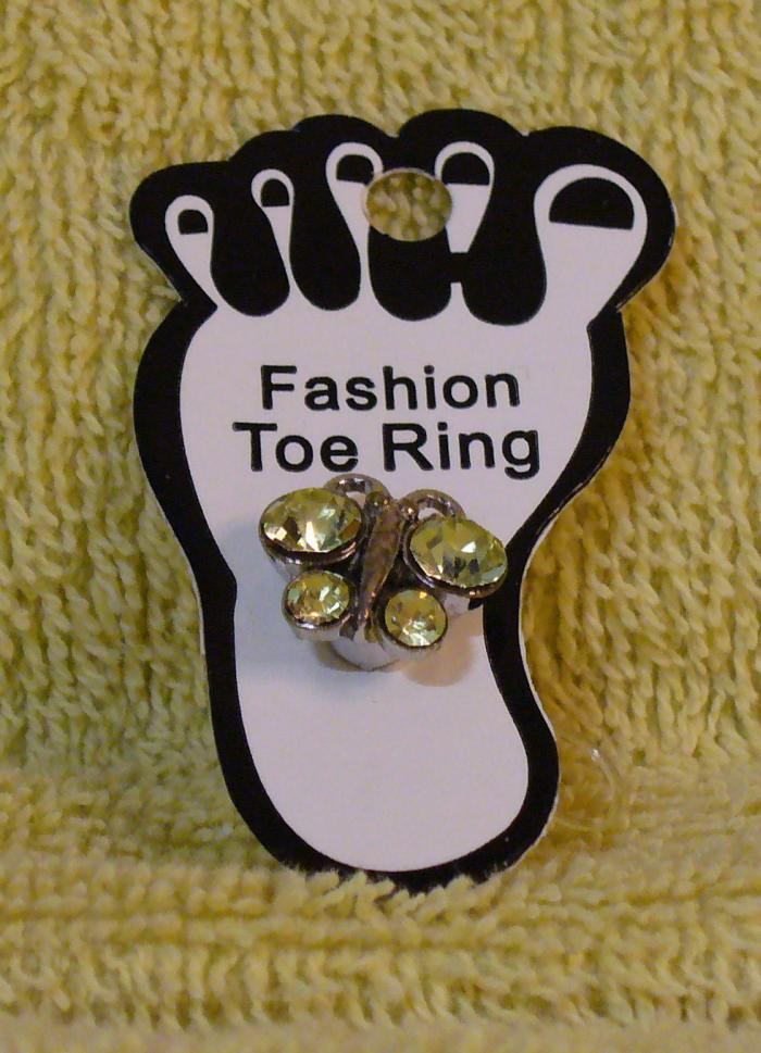 CRYSTAL BUTTERFLY Toe Ring