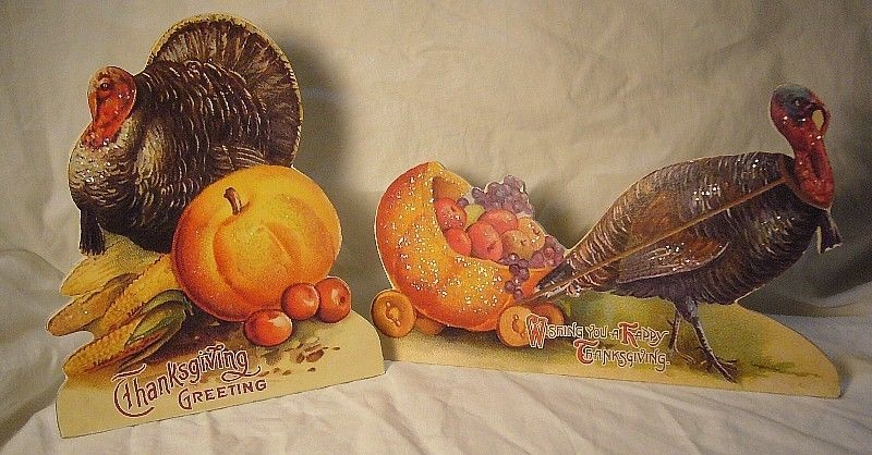 Bethany Lowe Thanksgiving Greeting Turkeys  Dummyboards