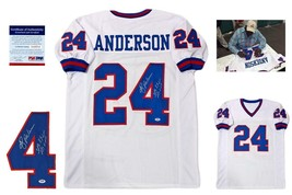 Ottis OJ Anderson Autographed Signed Jersey - PSA/DNA Authentic w/ Photo - White - $128.69