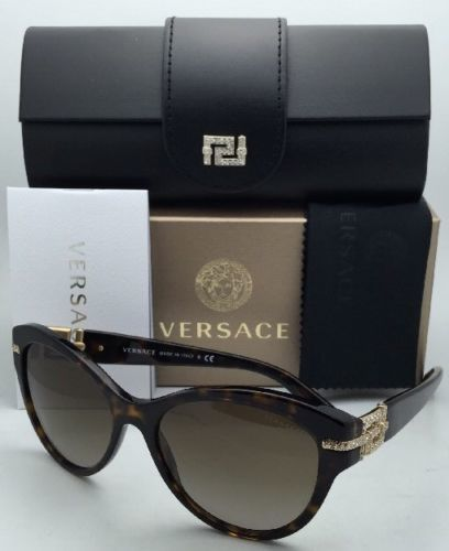 Nuovo Versace Occhiali da Sole Ve 4283-B 108/13 57-17 Havana Tartaruga W/