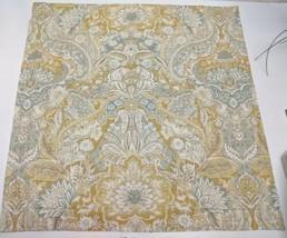 Pottery Barn Celeste Damask Pattern Euro Pillow Sham Linen Blend Paisley - $23.36