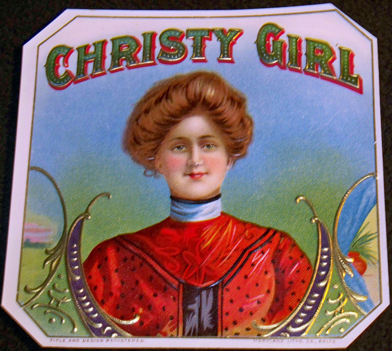 Christy girl out cigar label 001