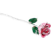 Lacquered Pink Rose with Platinum Trim - $98.99