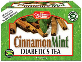 CARIBBEAN DREAMS CINNAMON MINT TEA WITH STEVIA 20 BAGS - $3.95