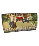 Colorful Wallet Canvas City Scene with jewels - $14.00