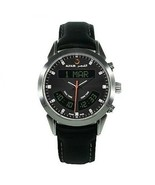 Alfajr Deluxe Black Wrist Watch with Genuine Black Leather Strap - €314,28 EUR