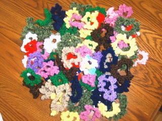 Crochet hair scrunchies 011