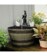 Wood Bucket Fountain - $199.00