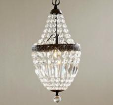 Crystal Mini Chandelier Pendant French Farmhouse Restoration Light Fixture - $266.31