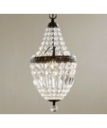 Crystal Mini Chandelier Pendant French Farmhouse Restoration Light Fixture - $266.31