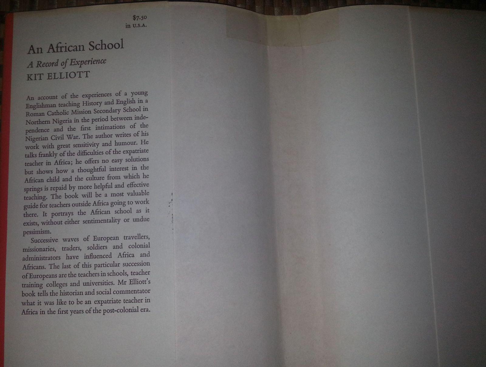 An African School by Kit Elliott 1970 HBDJ