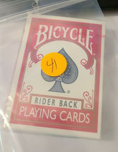 Red Bicycle Rider Back Deck of Playing Cards   (#41) image 6