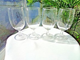 Set of 4 Kusak Clear Classic Pattern Iced Tea Glasses - $32.66