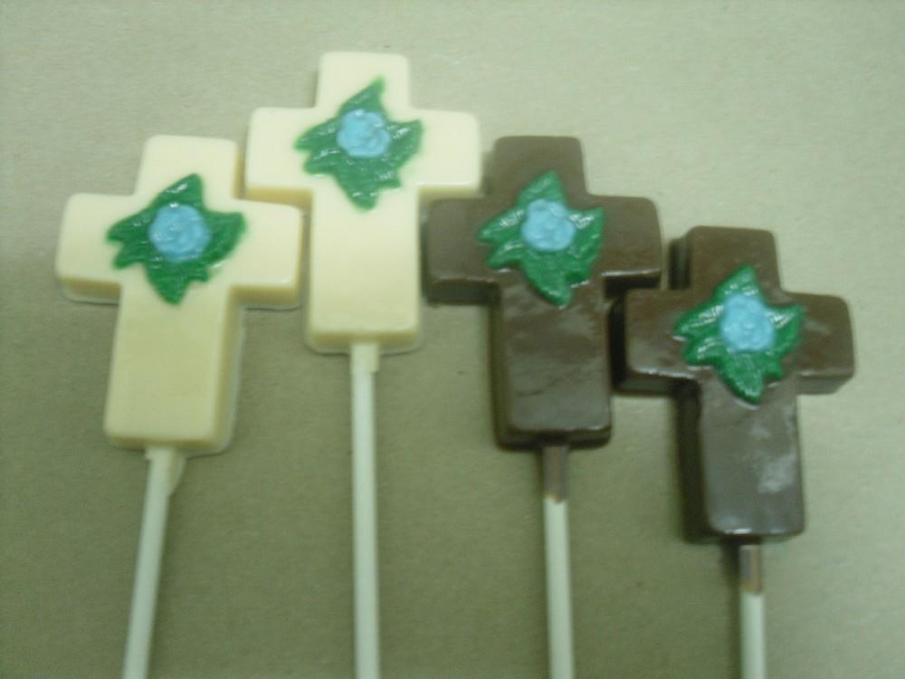 Cross with Flower Lollipops
