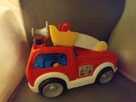 Fisher-Price Little People Lift n Lower Fire Truck With Sound   - $17.50