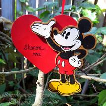 Vtg 1992 Walt Disney Company Mickey Mouse Christmas Tree Ornament Sharon... - $7.70